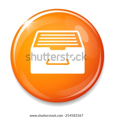 Archive  business  cabinet icon - stock vector