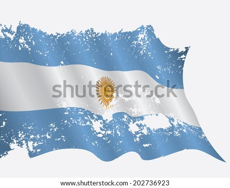 Argentina flag in grunge - stock vector