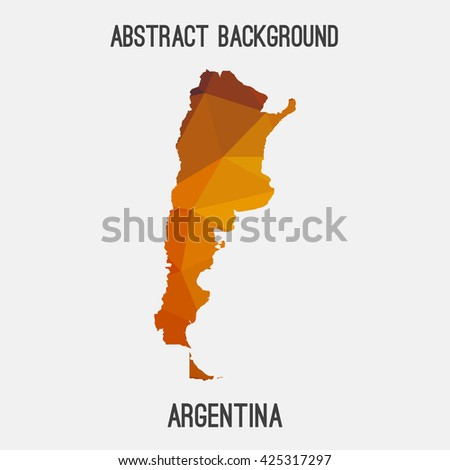 Argentina map in geometric polygonal style.Abstract tessellation,modern design background. Vector illustration EPS8 - stock vector
