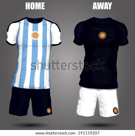 Argentina soccer jersey - stock vector