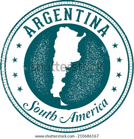 Argentina South America Stamp - stock vector