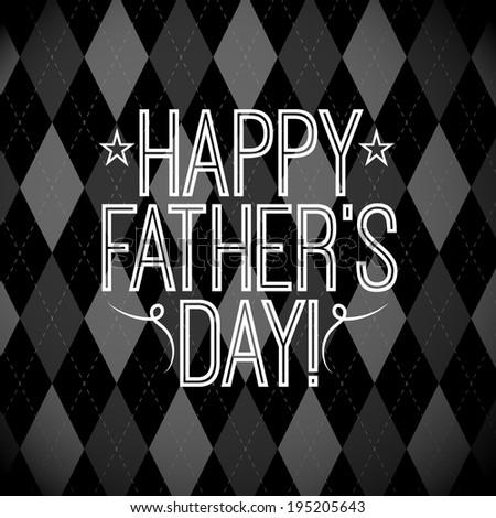 Argyle Father's Day - stock vector