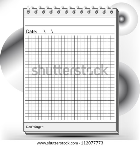 Arithmetic Block notes in black and white shades - stock vector