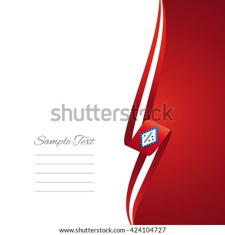 Arkansas right side brochure cover vector - stock vector