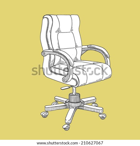 armchair businessman - stock vector