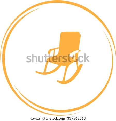 armchair. Internet button. Vector icon. - stock vector