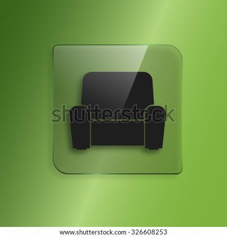 Armchair vector icon - stock vector