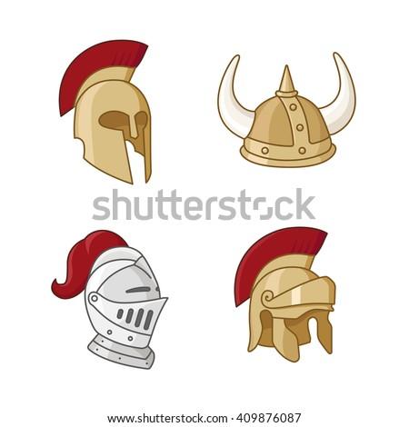 Armor vector icons - stock vector