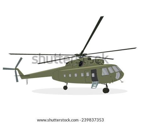 Army medic chopper illustration - stock vector