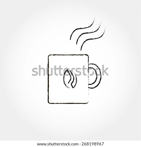 aromatic coffee cup icon - stock vector