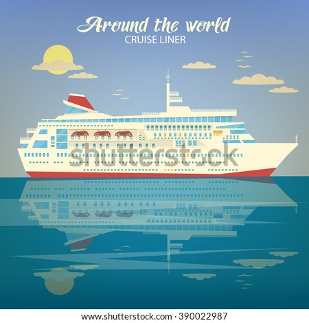 Passenger liner stock photos images pictures for Around the world cruise ship