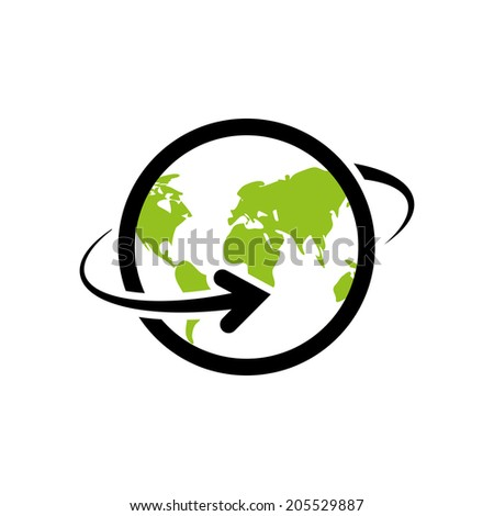 around the world. vector icon. eps8 - stock vector