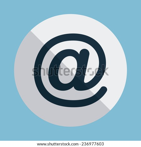 arroba design - stock vector