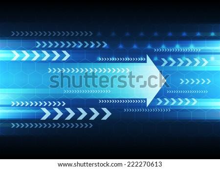 Arrow, Abstract technology background - Vector - stock vector