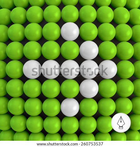 Arrow. Abstract technology background with balls. 3d vector illustration. Can be used as background for your business presentation. - stock vector