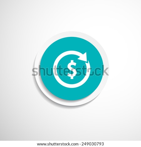 Arrow and money Vector version also available - stock vector