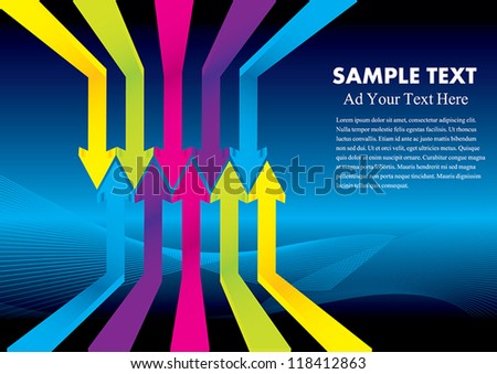 arrow background design vector illustration eps 10 - stock vector