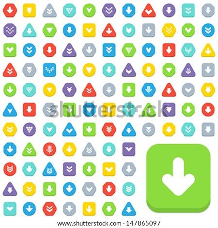 arrow buttons - stock vector