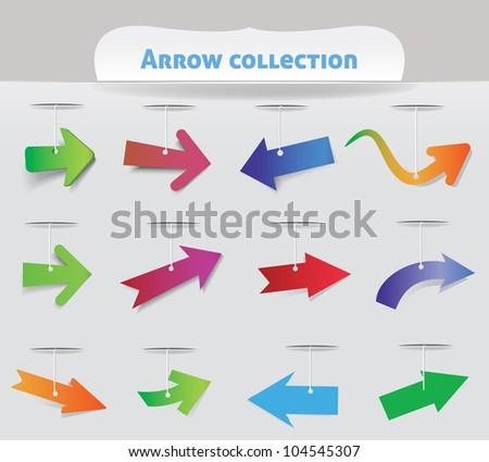 Arrow collection - stock vector