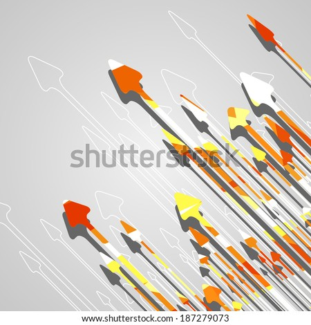 Arrow design background, dynamic illustration. - stock vector