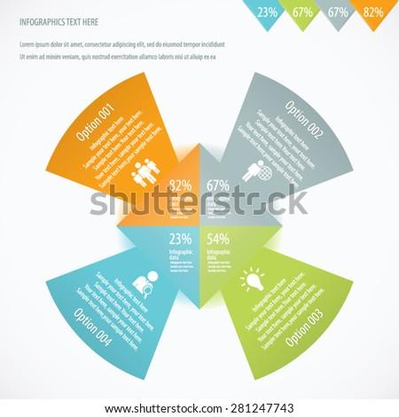 Arrow Design Info graphic Background. EPS 10 vector. - stock vector