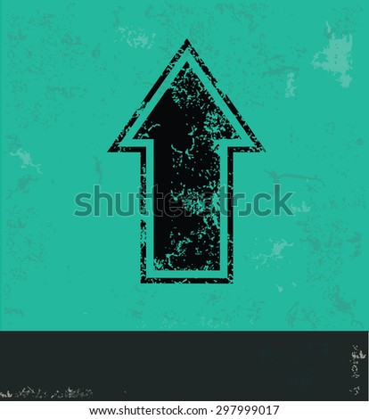 Arrow design on green background,grunge vector - stock vector
