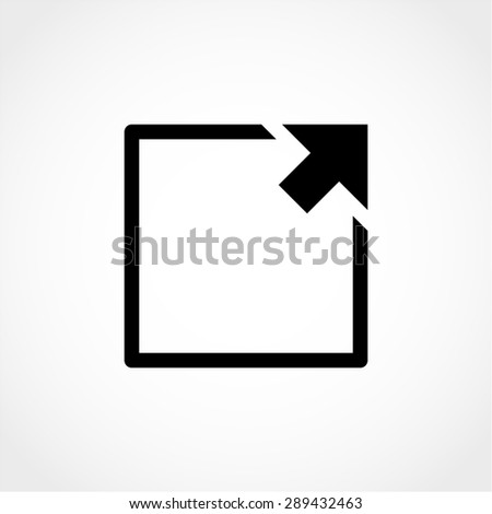 Arrow Expand Full screen Scale Icon Isolated on White Background - stock vector