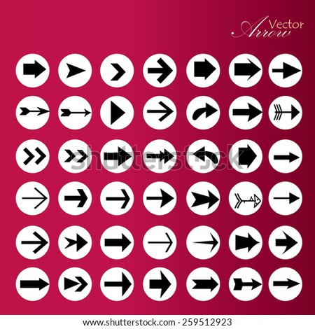 arrow icon set,arrow on colorful circle,arrow illustration,basic arrow,standard arrow , arrow vector - stock vector