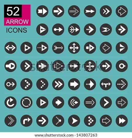 Arrow icon set. Eps 10 vector design - stock vector