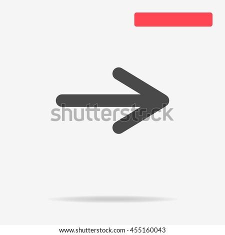 Arrow icon. Vector concept illustration for design. - stock vector