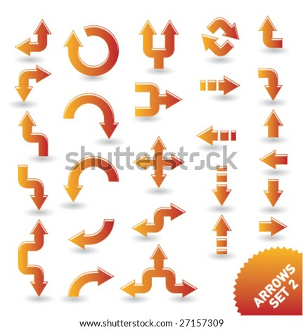 arrow icons [set 2] - stock vector