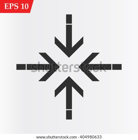 Arrow icons set.Vector illustration - stock vector