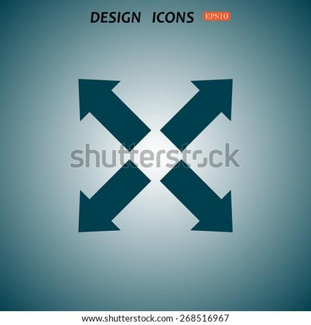 arrow indicates the direction. icon. vector design - stock vector