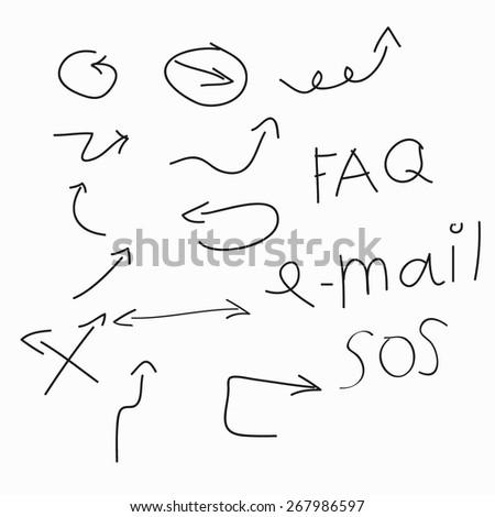 arrow manuscript - stock vector