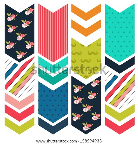 arrow pattern background - stock vector