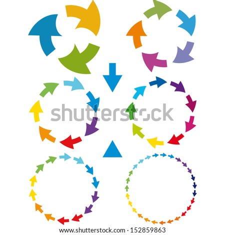 Arrow pictogram set. Simple color web icon on white background. vector - stock vector