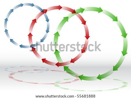Arrow Recycling - stock vector