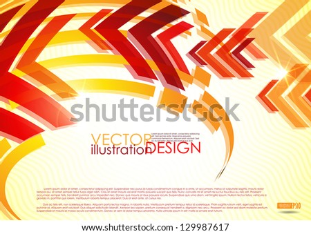 Arrow red background with place for your text. Vector illustration. Eps 10. - stock vector