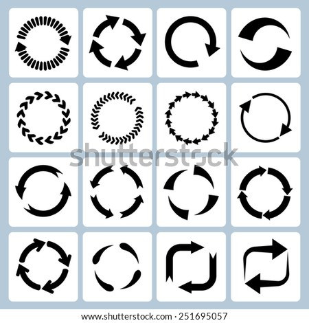arrow refresh icon reload sign, arrow icons - stock vector