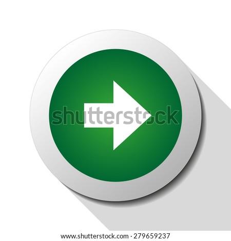 Arrow right, web icon. Vector design - stock vector