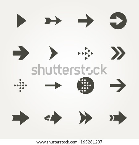 Arrow sign icon set. - stock vector