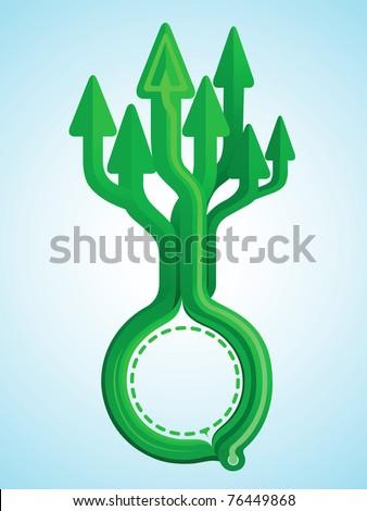 Arrow tree design growth to sky - stock vector