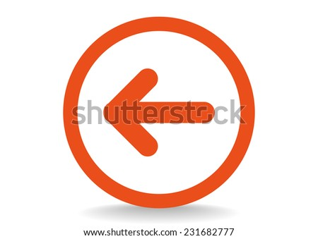 Arrow vector icon - stock vector