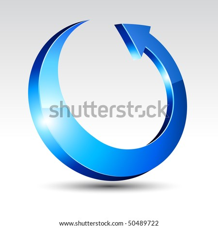 Arrow with shadow. Vector illustration. - stock vector