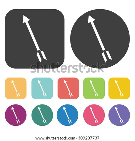 Arrow with split tail icons set. Vector Illustration eps10 - stock vector