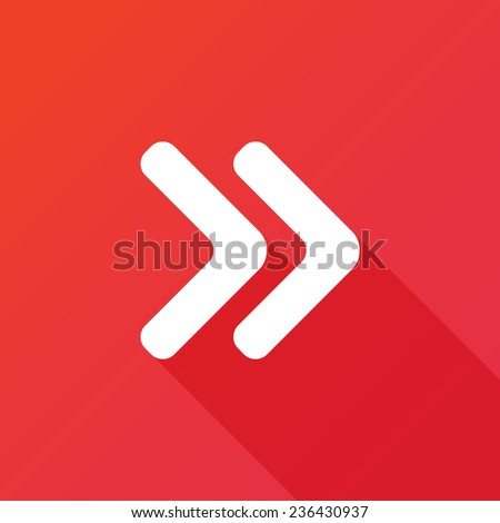 Arrowhead right icon - stock vector