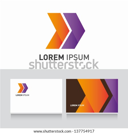 arrows icon vector design elements with business card template editable - stock vector
