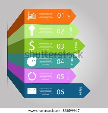 arrows infographic Template for diagram graph presentation and chart Vector  eps 10  - stock vector