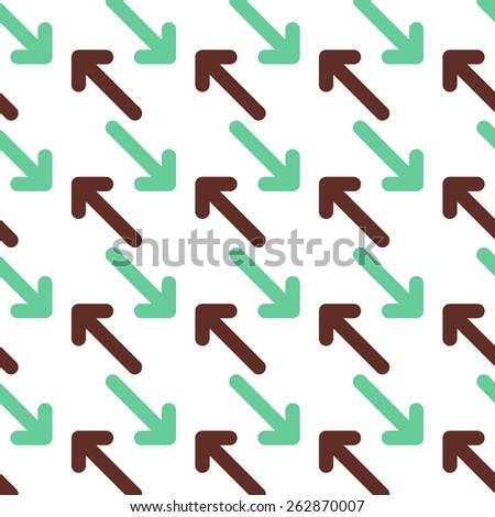 Arrows pattern - stock vector