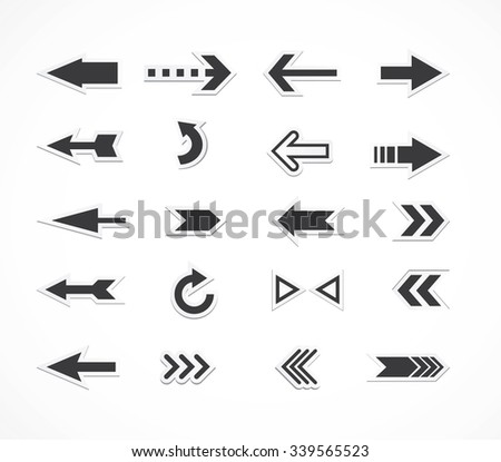 arrows set - stock vector
